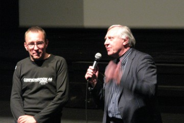 Peter Greenaway et Kees Bakker pendant Confrontation en avril 2010