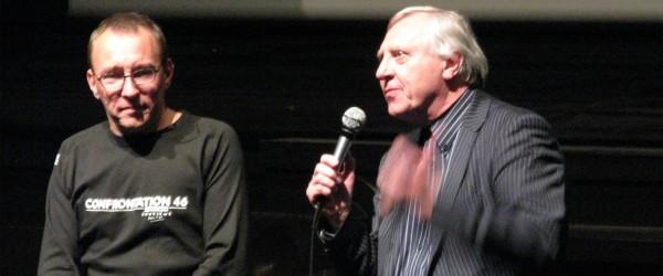 Peter Greenaway et Kees Bakker pendant Confrontation en avril 2010